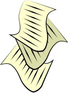 Cartoon document stock image